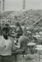 "Grateful Dead: Ron ""Pigpen"" McKernan, Bob Weir, Mickey Hart, and Phil Lesh, from the back"