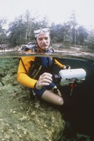 Bill Kreutzmann in diving gear