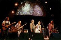 Rich Robinson, Sven Pipien, Robert Hunter, Bob Weir, and Chris Robinson