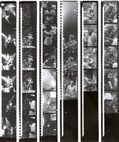 Jerry Garcia, Merl Saunders, and other unidentified musicians, ca. 1974: contact sheet with 30 images