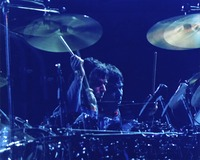 "Mickey Hart during ""Drums"": double exposure"