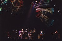 "Grateful Dead with Barney: Barney, Bill Kreutzmann, Bob Weir, Mickey Hart, Jerry Garcia, and Vince Welnick, performing ""Iko Iko"""