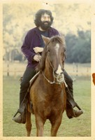 Jerry Garcia at Mickey Hart's ranch