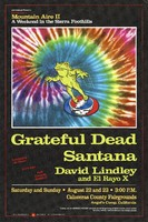 14th Annual Mountain Aire II, A Weekend in the Sierra Foothills. Grateful Dead, Santana, David Lindley and El Rayo X. August 22-23, 1987. Calaveras County Fairgrounds