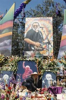 Memorial for Jerry Garcia: altar collection, portrait of Jerry
