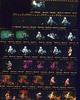 Grateful Dead and Bob Dylan at Giants Stadium: contact sheet with 32 images