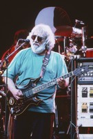 "Jerry Garcia, with his guitar, ""Lightning Bolt"""