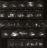 Grateful Dead and other unidentified musicians: contact sheet with 25 images