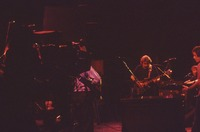 """Grateful Dead So Far"" production: Phil Lesh (obscured), Jerry Garcia, Brent Mydland, and Bob Weir"