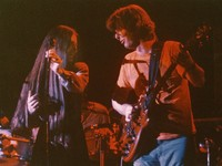 Grateful Dead, ca. 1970s: Donna Jean Godchaux and Phil Lesh