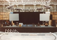 "Grateful Dead at the Greek Theatre: stage preparation for ""Dark Star"""