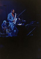 Ornette Coleman, with Jerry Garcia in the background
