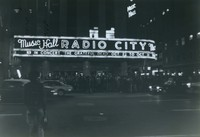 Grateful Dead: Radio City Music Hall marquee announcing shows