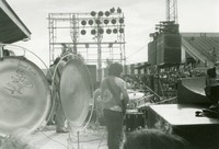 "Grateful Dead: Jerry Garcia from the back, and Ron ""Pigpen"" McKernan"