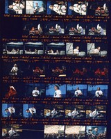 Grateful Dead at the Seattle Center Memorial Stadium: contact sheet with 33 images