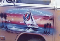 "Deadhead artwork, ""Paradise waits on the crest of a wave"""