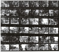 "Grateful Dead at the ""Palo Alto Be-In"": contact sheet with 36 images"