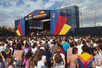 Grateful Dead: distant view of the stage