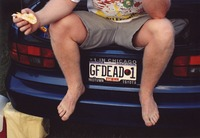 "Deadhead vehicle with ""GFDEAD 1"" Illinois license plate, ca. 1990"