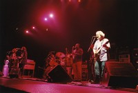 Jerry Garcia Band: Jaclyn LaBranch, Melvin Seals (obscured), Gloria Jones, David Kemper (obscured), David Murray, John Kahn and Jerry Garcia