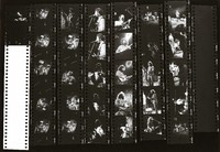 Grateful Dead: Jerry Garcia and Bob Weir: contact sheet with 31 images
