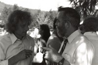 """Lawrence """"Ramrod"""" Shurtliff with an unidentified man, ca. 1990s"""