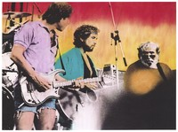 Grateful Dead: Bob Weir, Bob Dylan, and Jerry Garcia: hand-colored image