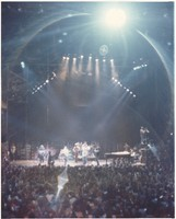 Grateful Dead at Winterland Arena during the filming of Grateful Dead Movie: distant view