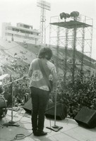 Grateful Dead: Jerry Garcia, from the back