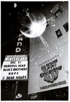 Grateful Dead at Winterland: marquee for the final show, double-exposed with the venue's famed mirror ball