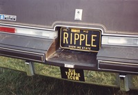 "Deadhead vehicle with ""RIPPLE"" Missouri license plate, ca. 1991"