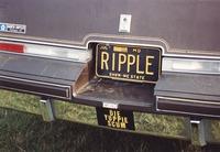 "Deadhead vehicle with ""RIPPLE"" Missouri license plate, ca. 1991"