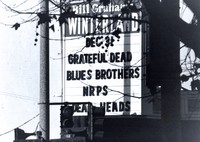 Grateful Dead at Winterland: marquee for the final show