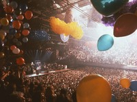 Grateful Dead New Year's: distant view of the stage, and Deadheads
