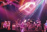 Grateful Dead: Phil Lesh, Bob Weir, Mickey Hart and Jerry Garcia (cut off)