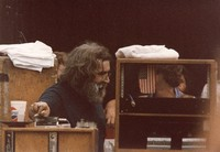Grateful Dead: Jerry Garcia talks and Bob Weir (obscured)