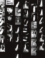 Ken Kesey, with unidentified others: contact sheet with 35 images