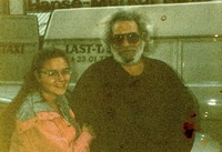 Jerry Garcia and Deadhead friend of the photographer