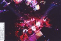 Grateful Dead: Phil Lesh, Bill Kreutzmann, Bob Weir, Mickey Hart, Jerry Garcia, Vince Welnick, from the lighting catwalk