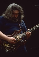 "Jerry Garcia, with the guitar ""Tiger"""