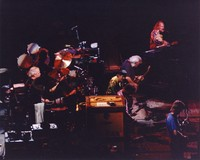 Grateful Dead and Carlos Santana: Bill Kreutzmann, Mickey Hart, Carlos Santana, Bob Weir, Jerry Garcia, Vince Welnick, Phil Lesh