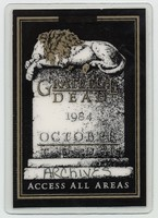 Grateful Dead - 1984 October - Access All Areas [laminate]
