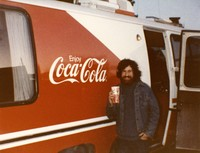 Deadhead Bobby enjoys a Coca-Cola, at Compton Terrace