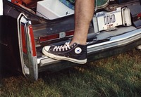 "Deadhead vehicle with ""DDHD"" Illinois license plate, ca. 1991"