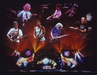 Grateful Dead, ca. 1990s: montage with Phil Lesh, Bill Kreutzmann, Bob Weir, Mickey Hart, Jerry Garcia, and Vince Welnick