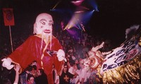 Grateful Dead at Chinese New Year, ca. 1980s: parade and audience