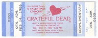 Bill Graham Presents A Valentines Concert with Grateful Dead - Henry J. Kaiser Convention Center - February 14, 1986
