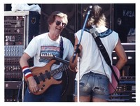 Grateful Dead, ca. 1980s: Phil Lesh and Bob Weir
