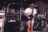 Grateful Dead: Bill Kreutzmann and Bob Weir, with Mickey Hart in the background