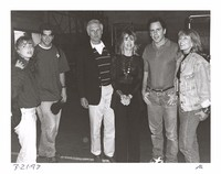 Ted Turner and his wife Jane Fonda with Bob Weir and unidentified others